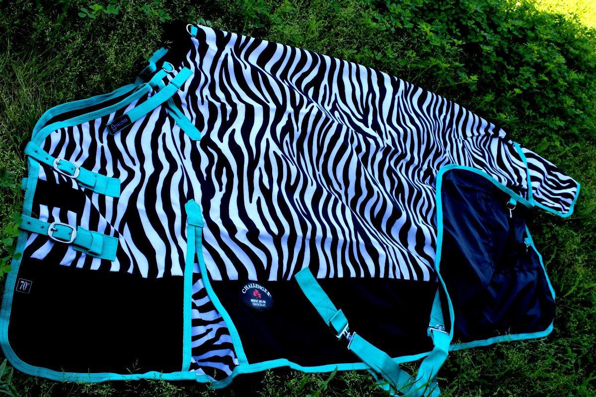 78  1000D luz de hoja de Caballo Participación Impermeable Invierno Manta Zebra 220G
