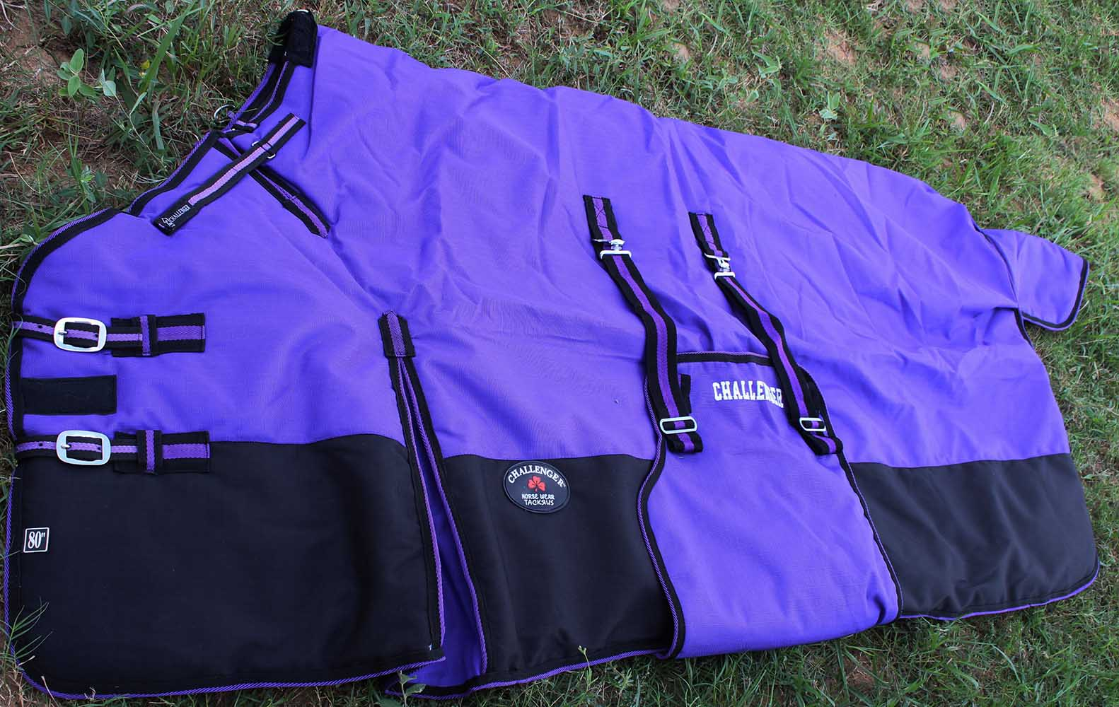 "80"" 1200D Turnout Waterproof Horse WINTER BLANKET HEAVY Belly Band 524B"