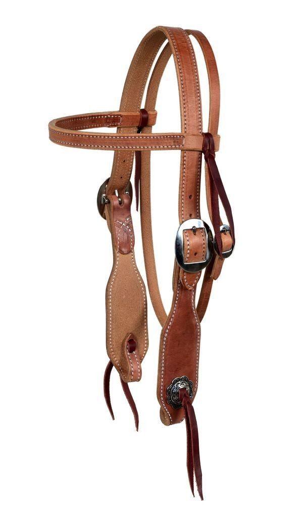 Horse Amish  Western  USA Hermann Oak Leather Headstall 975H325