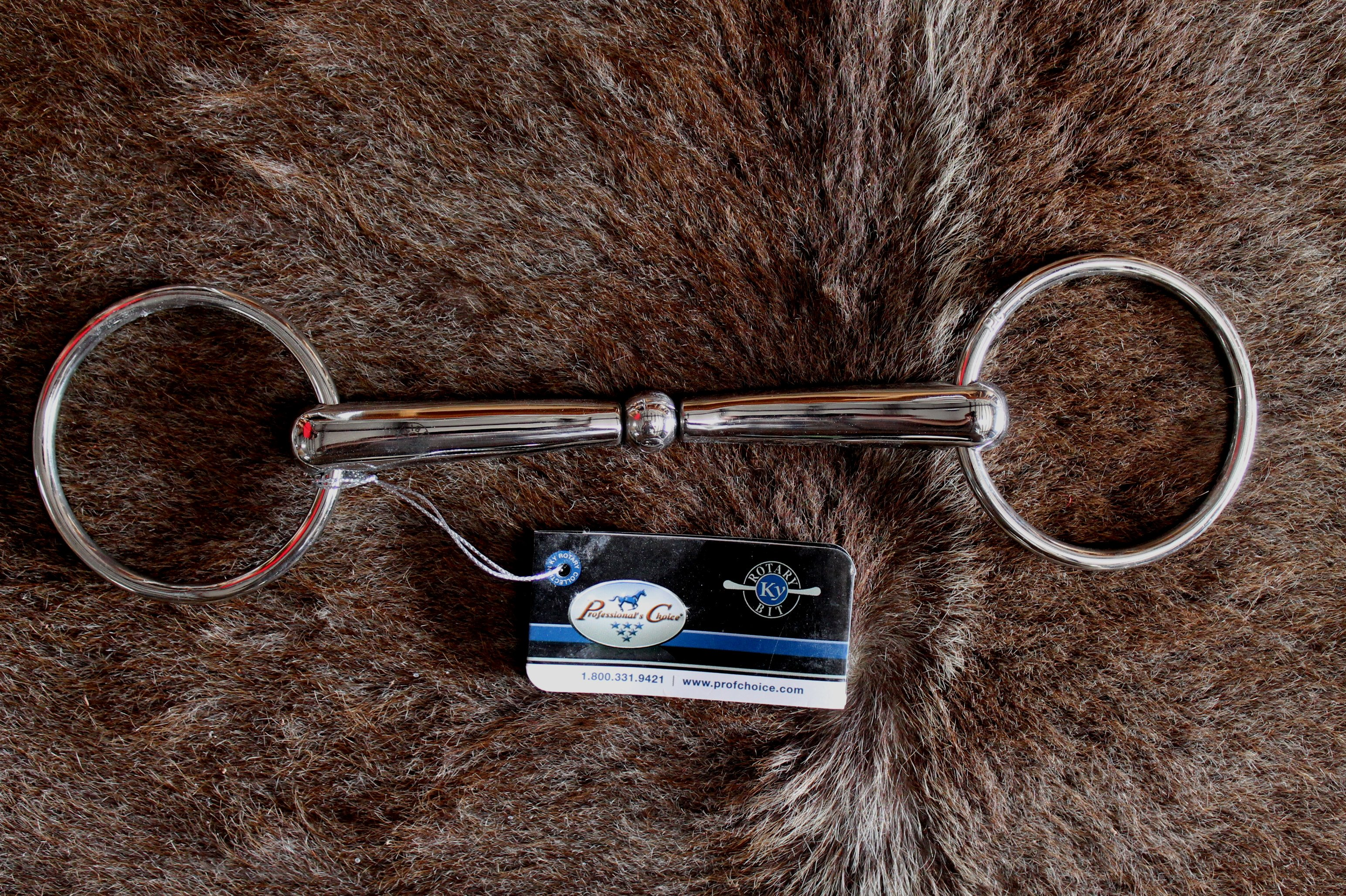 Professional Choice SS Loose Ring Joint Snaffle 6  Mouth Horse Bit 3587