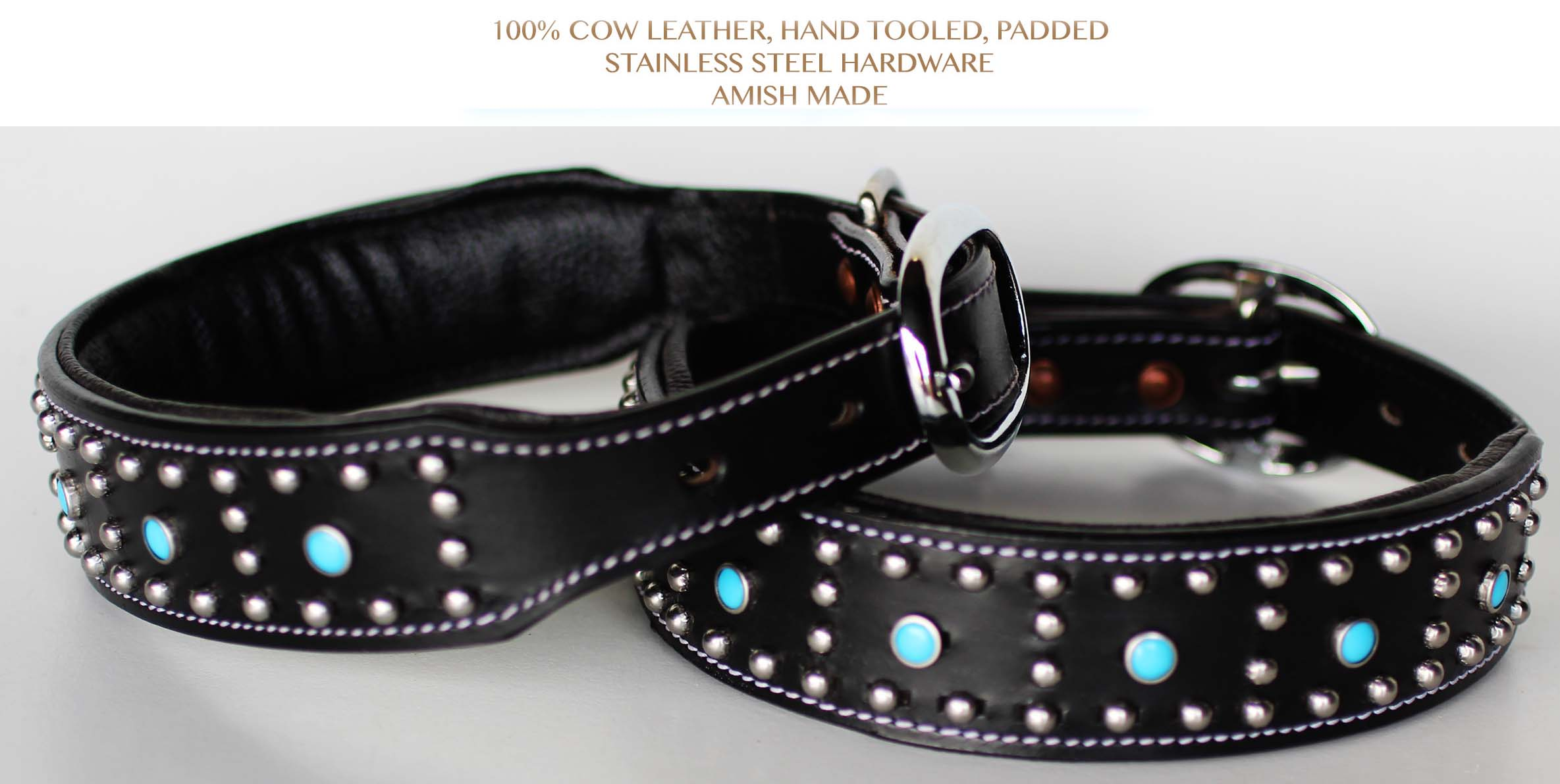 Rhinestone Dog Puppy Collar Crystal Cow Leather Western 6045