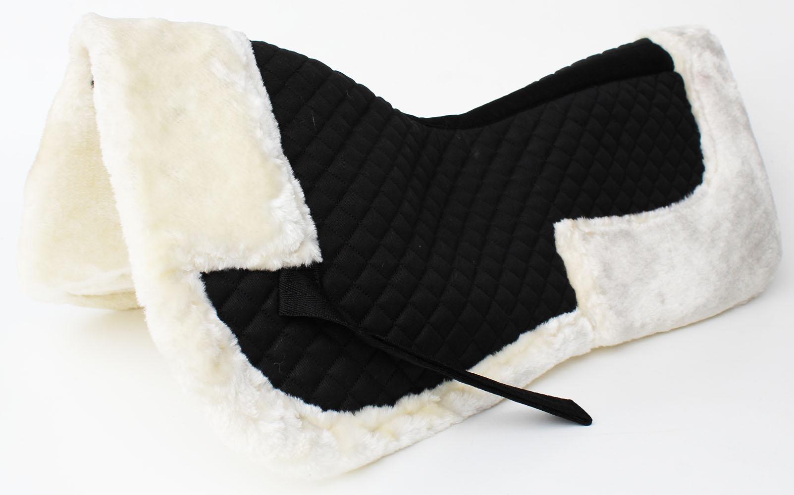 Cheval Anglais Matelassé Demi-selle Pad Correction Wither Relief Fourrure Noir 12218wh-afficher Le Titre D'origine