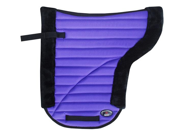 Cheval Anglais Western Saddle Pad Contour Jumping All Purpose Fourrure Violet 12227pr-afficher Le Titre D'origine