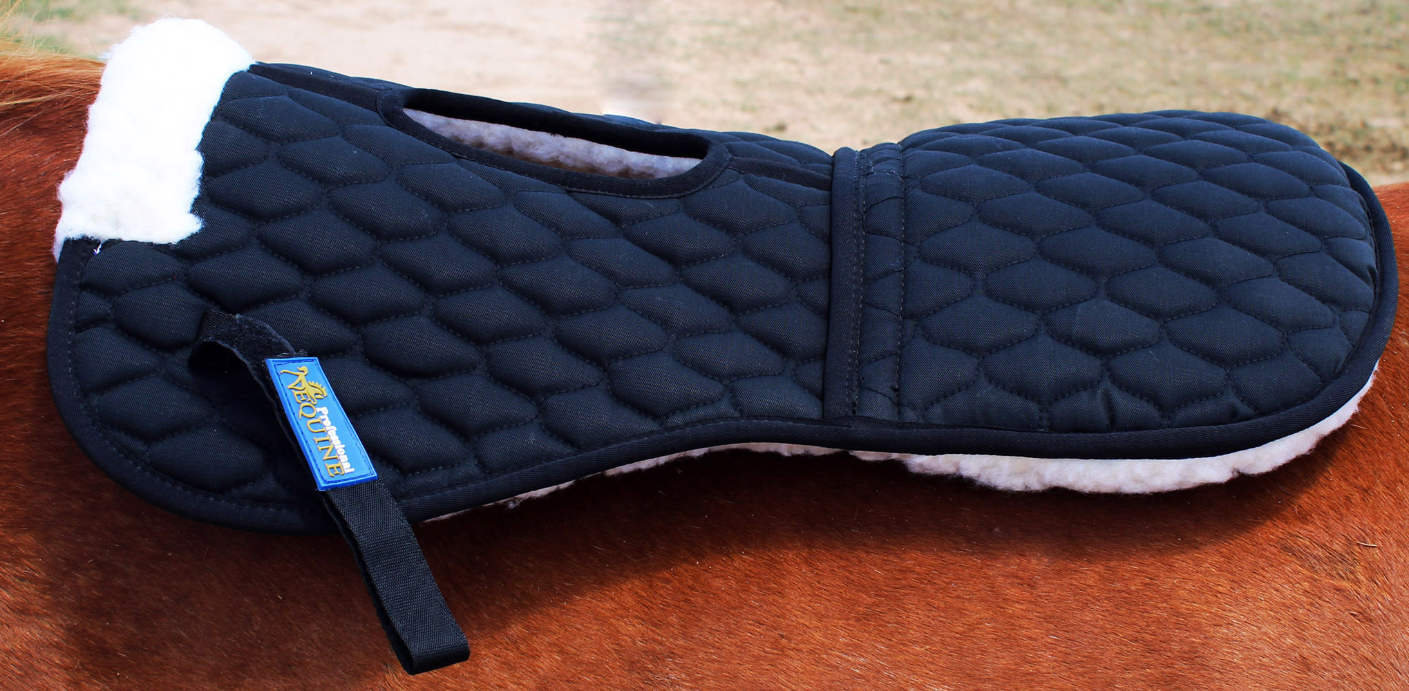 Horse Trail English Quilted Saddle Wither Relief Half Pad Fur 12228