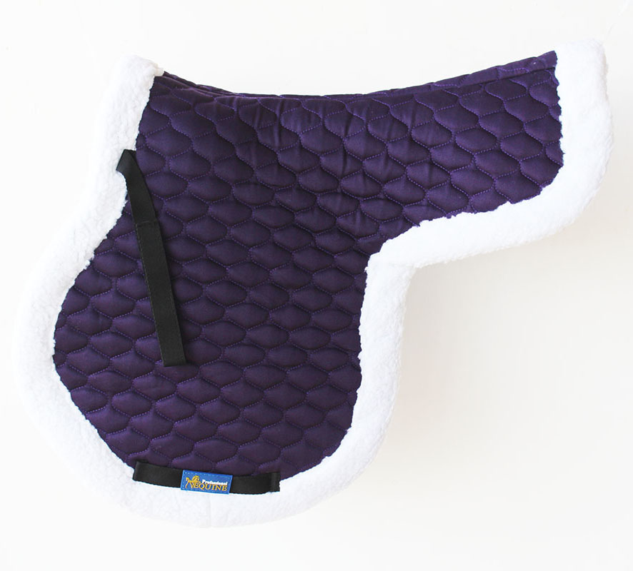 Horse  Cotton All Purpose Quilted ENGLISH SADDLE PAD Contoured FUR Purple 72F29  at cheap