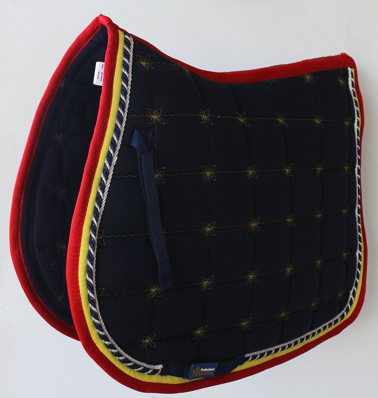 Horse Cotton Quilted All Purpose ENGLISH SADDLE  PAD Trail Contoured Navy 72F39  retail stores