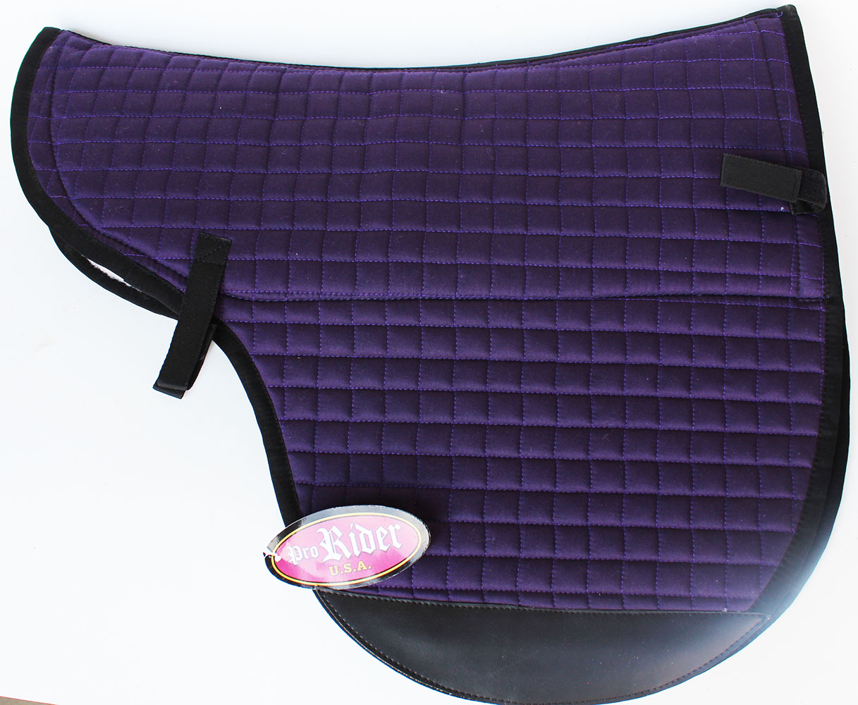 Horse  Quilted English Treeless Gel Fleece Lining Saddle Saddle Saddle Pad 6403VT cb1f86