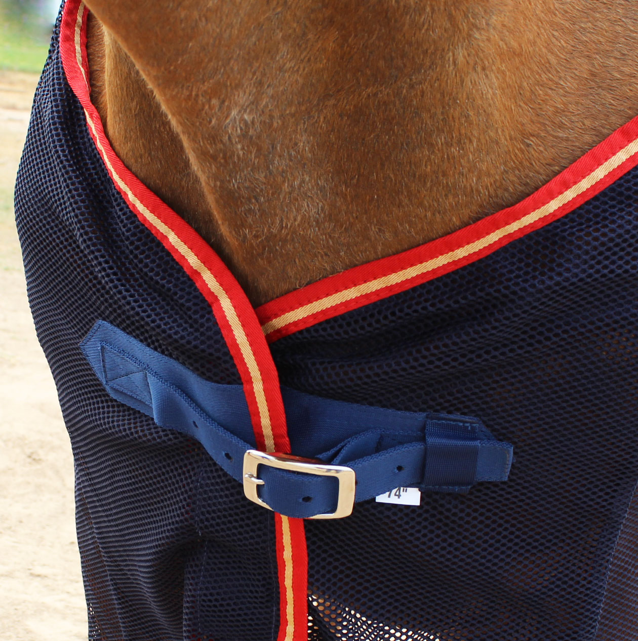 CHALLENGER Horse Fly Sheet Mesh Fleece Cooler Summer Spring Airflow UV Red 73F01