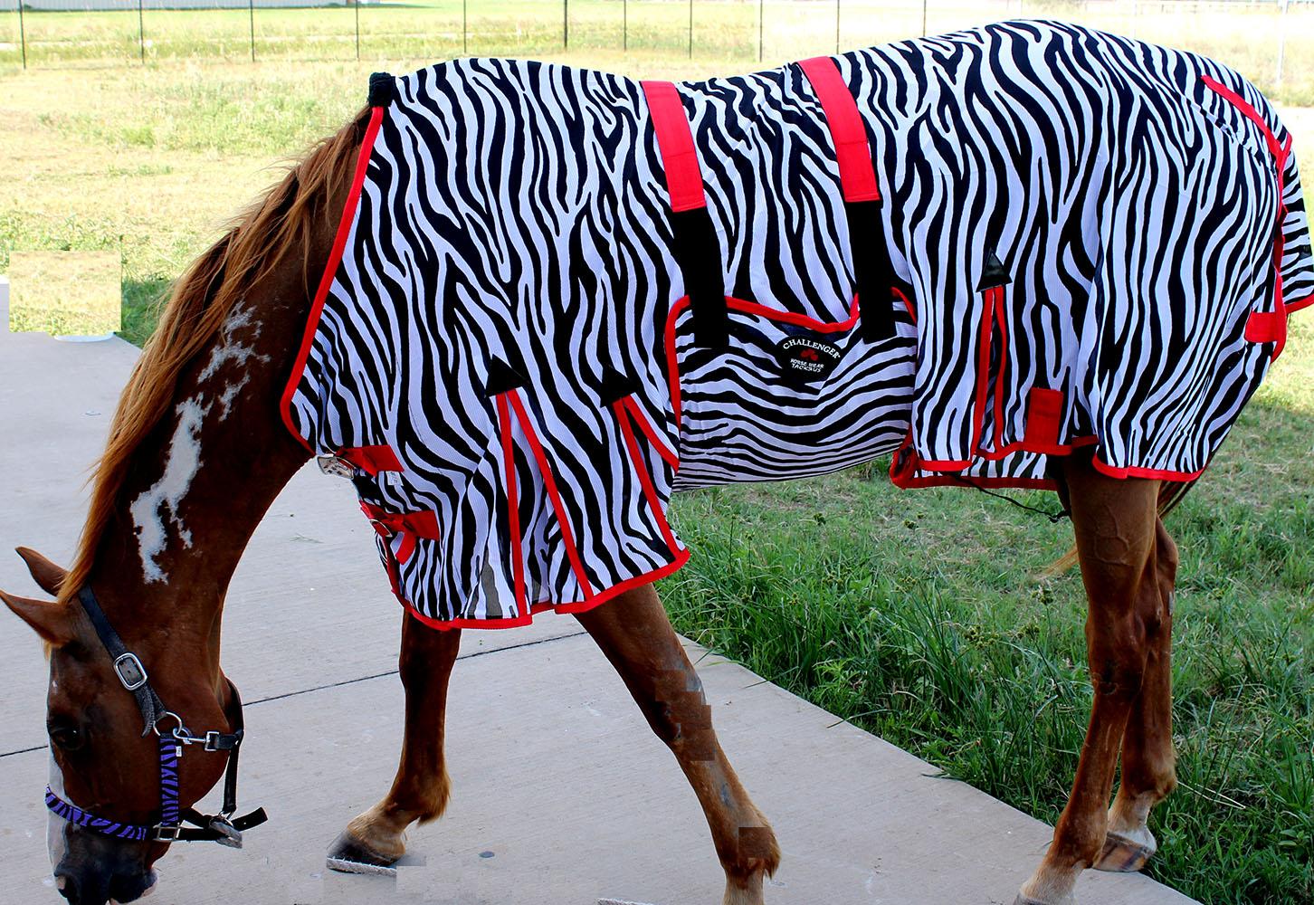 Horse Bug Mosquito Fly Sheet  Summer Spring Airflow Mesh UV Zebra 73404  brand