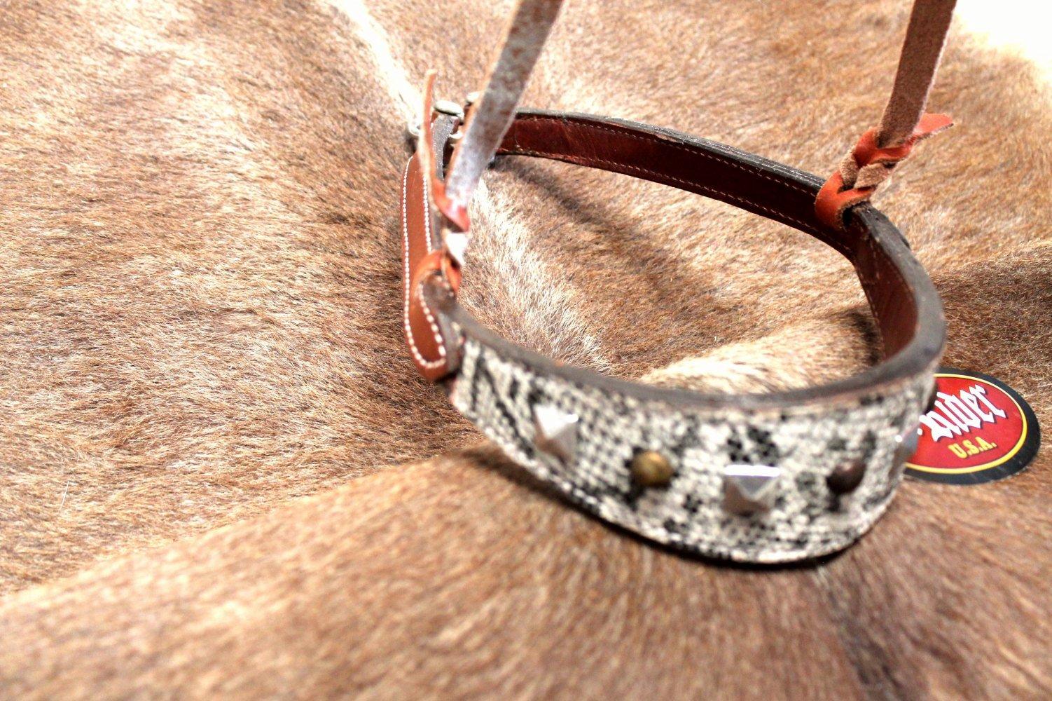 Horse Bridle Western Barrel Racing Tack Rodeo Muserolle 9917-afficher Le Titre D'origine La RéPutation D'Abord