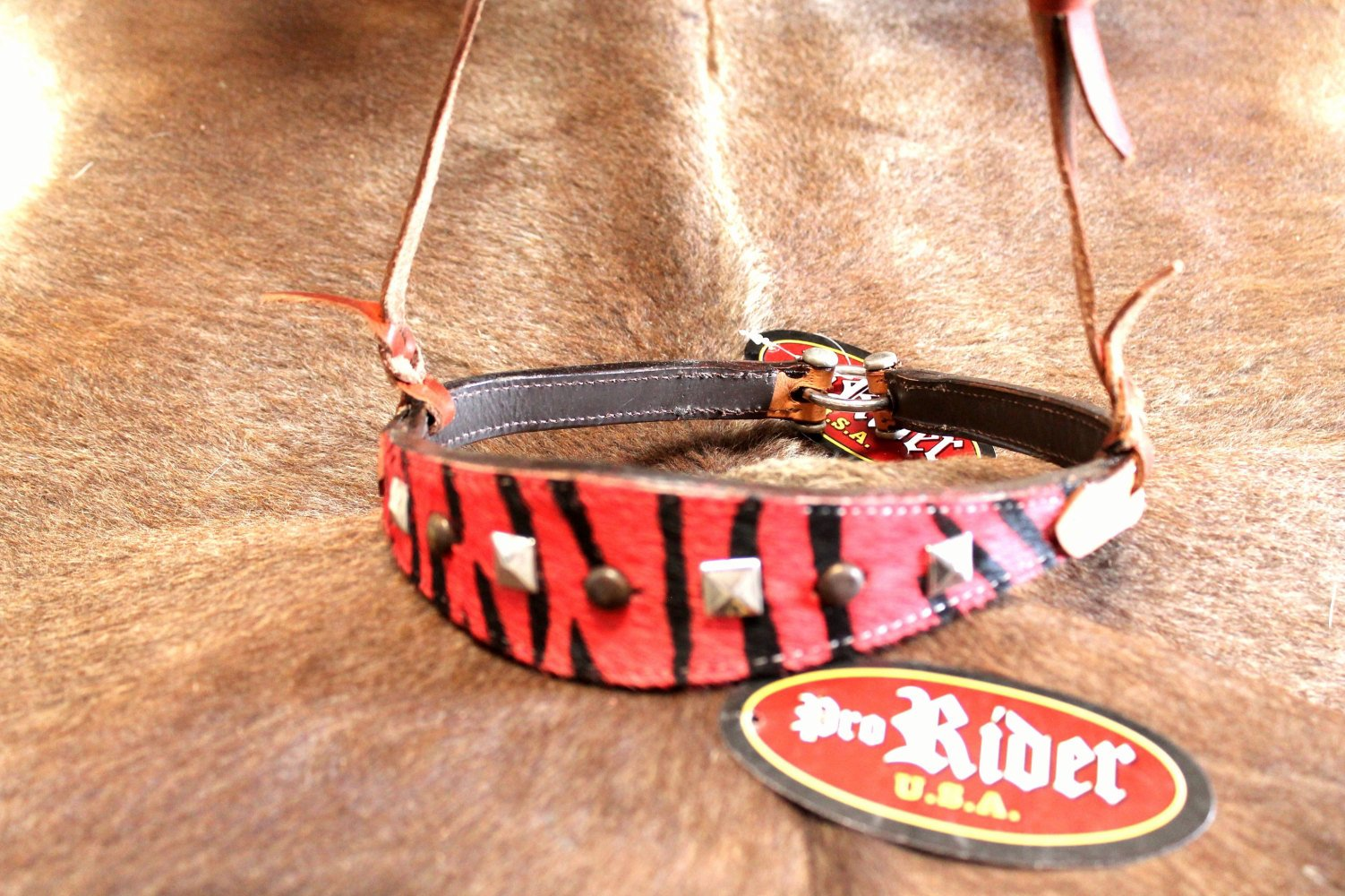 Horse Bridle Western Barrel Racing Tack Rodeo NOSEBAND Leather 9953