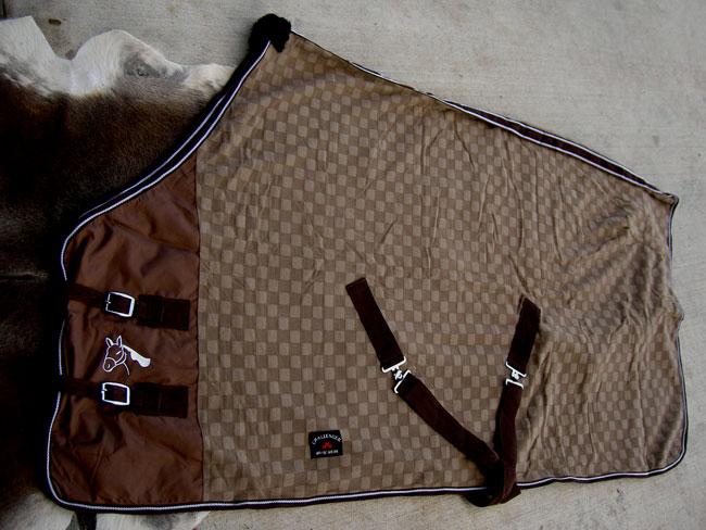 66  Horse Sheet Polar FLEECE COOLER Blanket Brown 4314