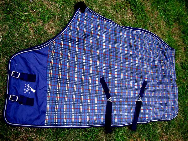 """PréVenant 62"""" Cheval Feuille Polaire Refroidisseur Blanket Blue 4332-afficher Le Titre D'origine"""