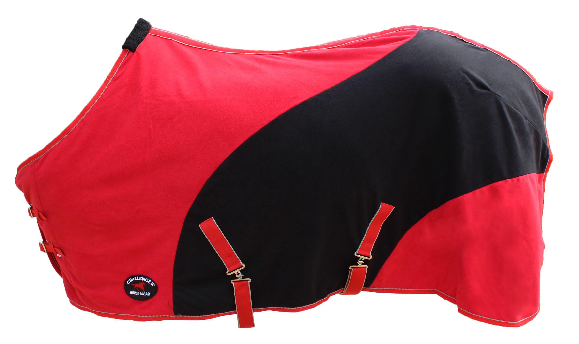 Challenger Horsewear 82 Horse Sheet Polar Fleece Cooler Exercise Blanket Wicks Moisture 4388