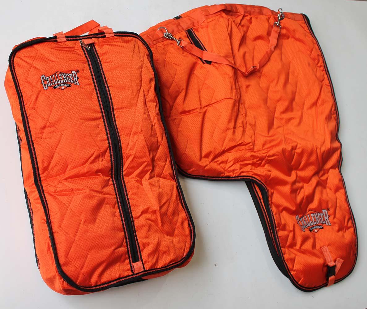 Horse 1000D Insulated orange Nylon Western Saddle Bridle Bag Combo 7C10
