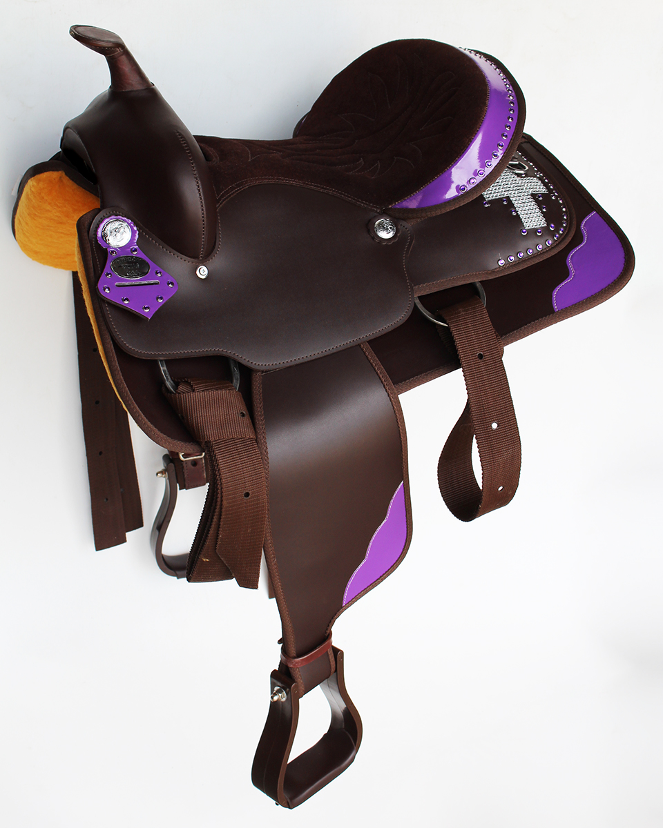 Western Cordura Trail Barrel Pleasure Horse SADDLE Bridle Brown 4997