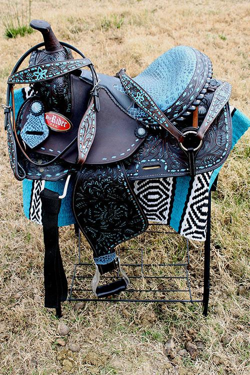 Horse Horse Horse Western Barrel Show Pleasure LEATHER SADDLE Bridle  50172 a82173