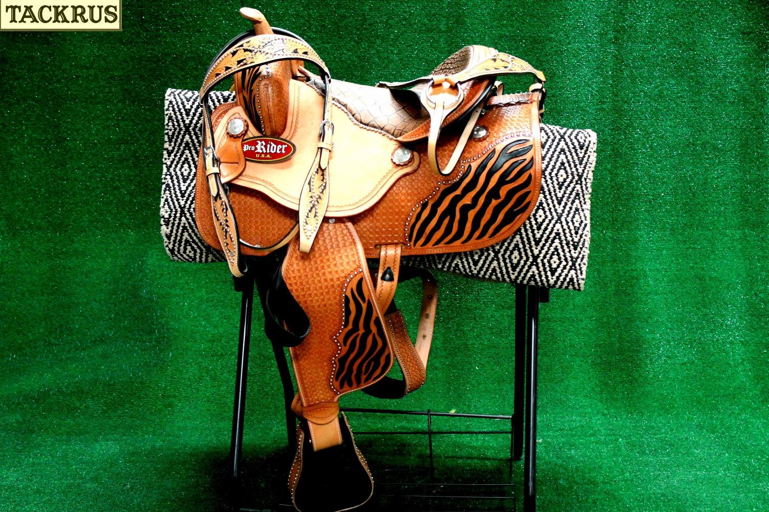 Horse Western Barrel Show Pleasure LEATHER SADDLE Bridle  50202