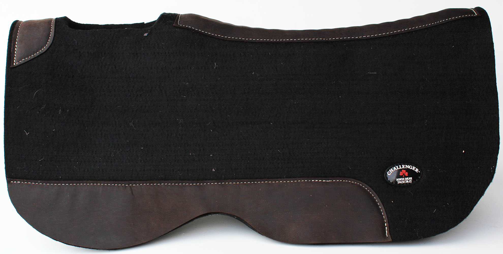 Horse SADDLE PAD  Contour 3 4 Wool Felt Western Butterfly Close Contact 39122BK2
