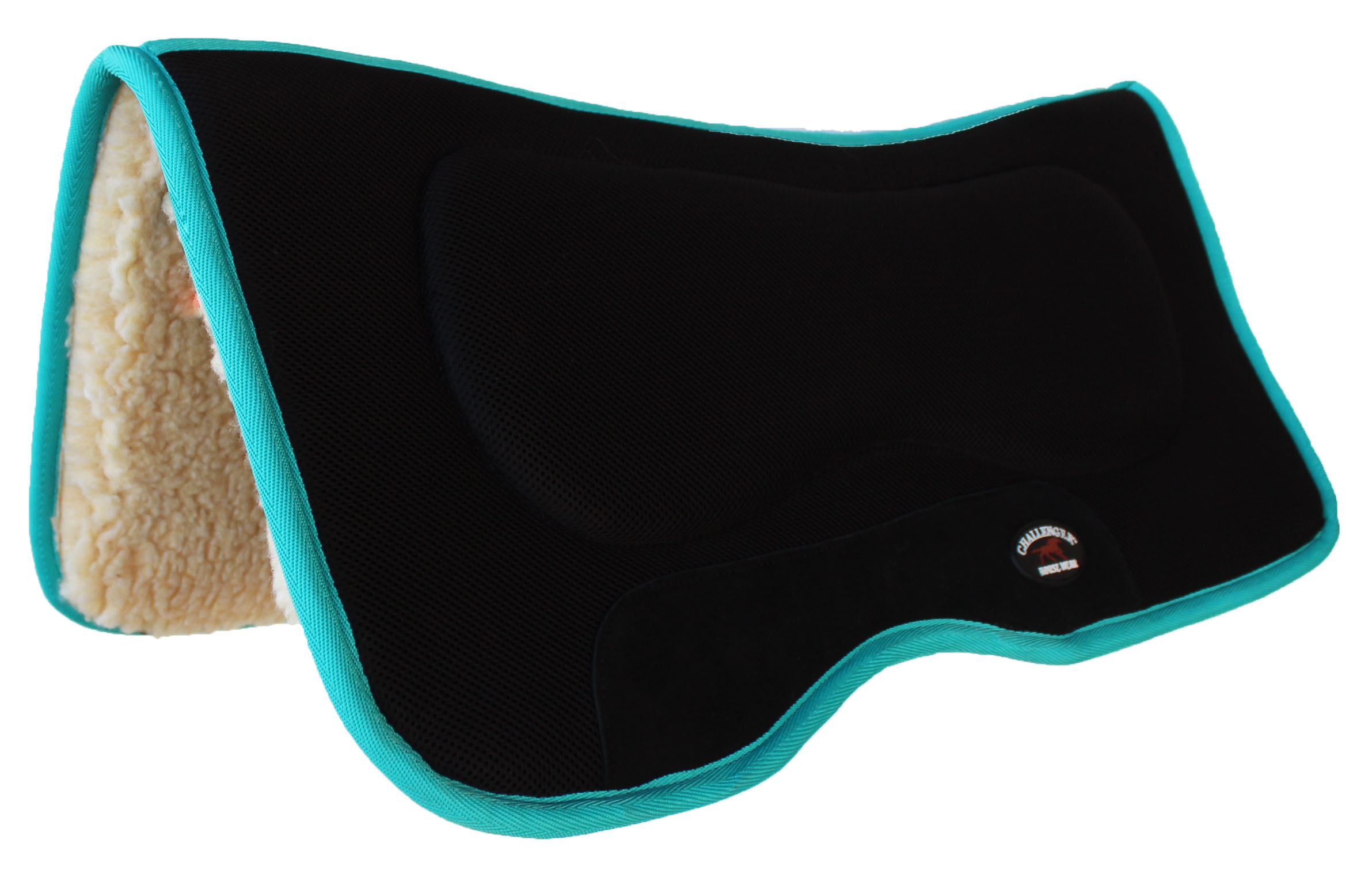 Horse SADDLE PAD Western Anti-Slip Memory Foam Fleece Turquoise 39131