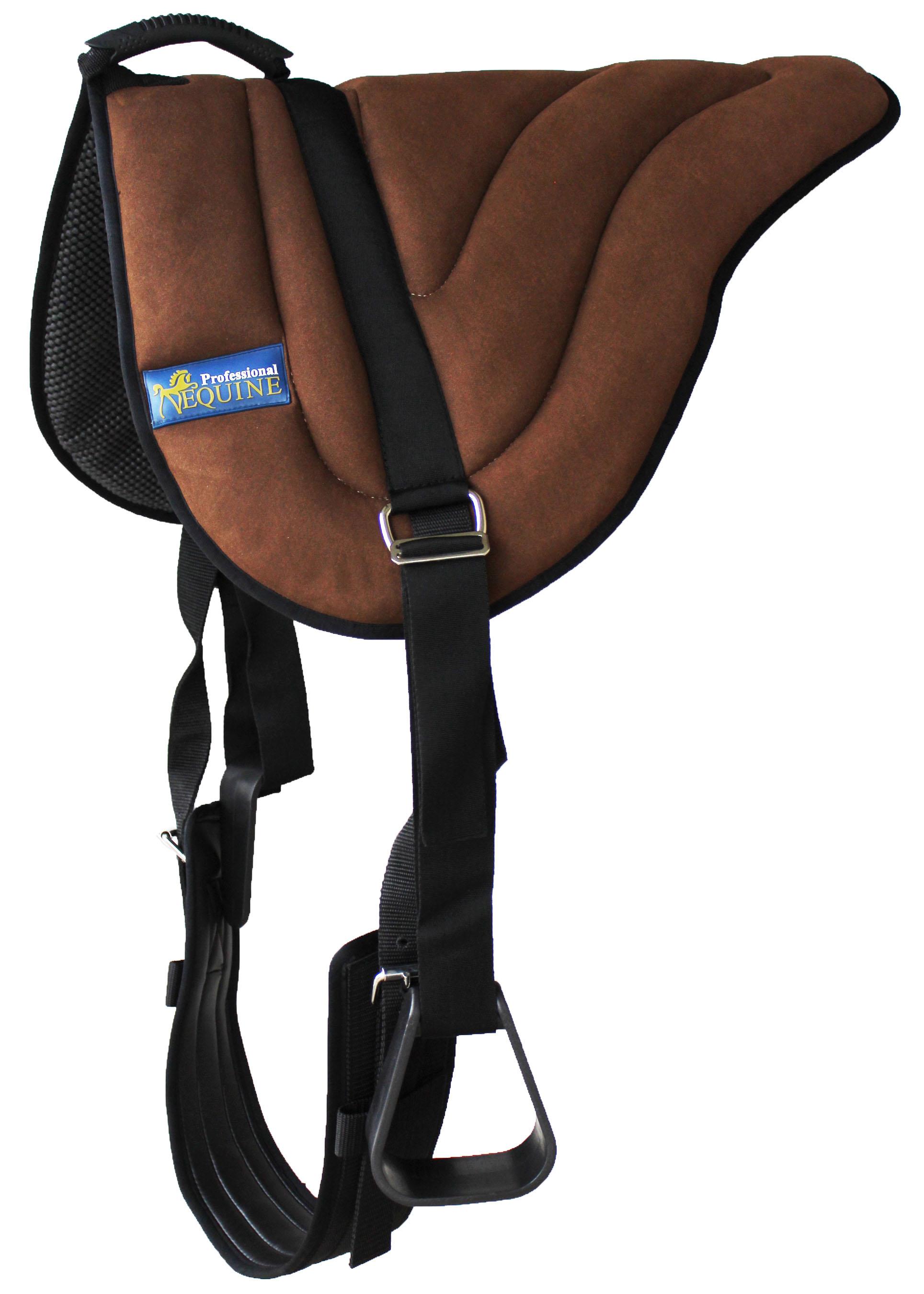 Cojín de Silla de montar caballo occidental Niños Neopreno Bareback Pad estribos 39187