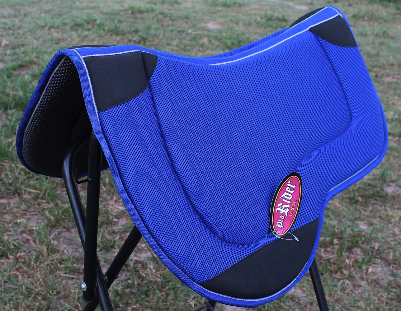 Western horse saddle pad barrel endurance neoprene anti