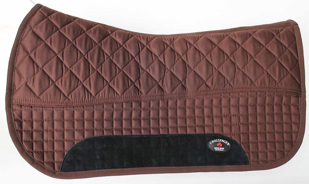 Equine Western Horse SADDLE PAD 28X32  DOUBLE BACK FLEECE LINED BROWN 3996