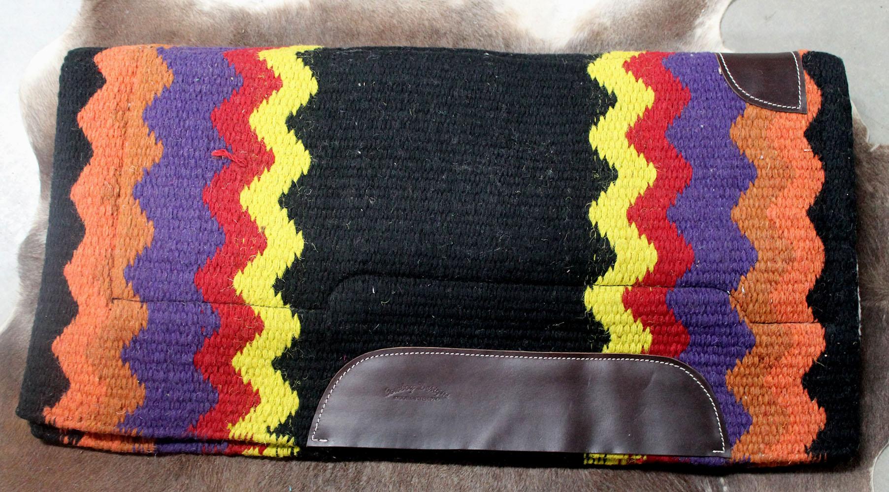 Mostrar occidental lana cojín Rodeo manta de caballo Trail Tachuela 38106