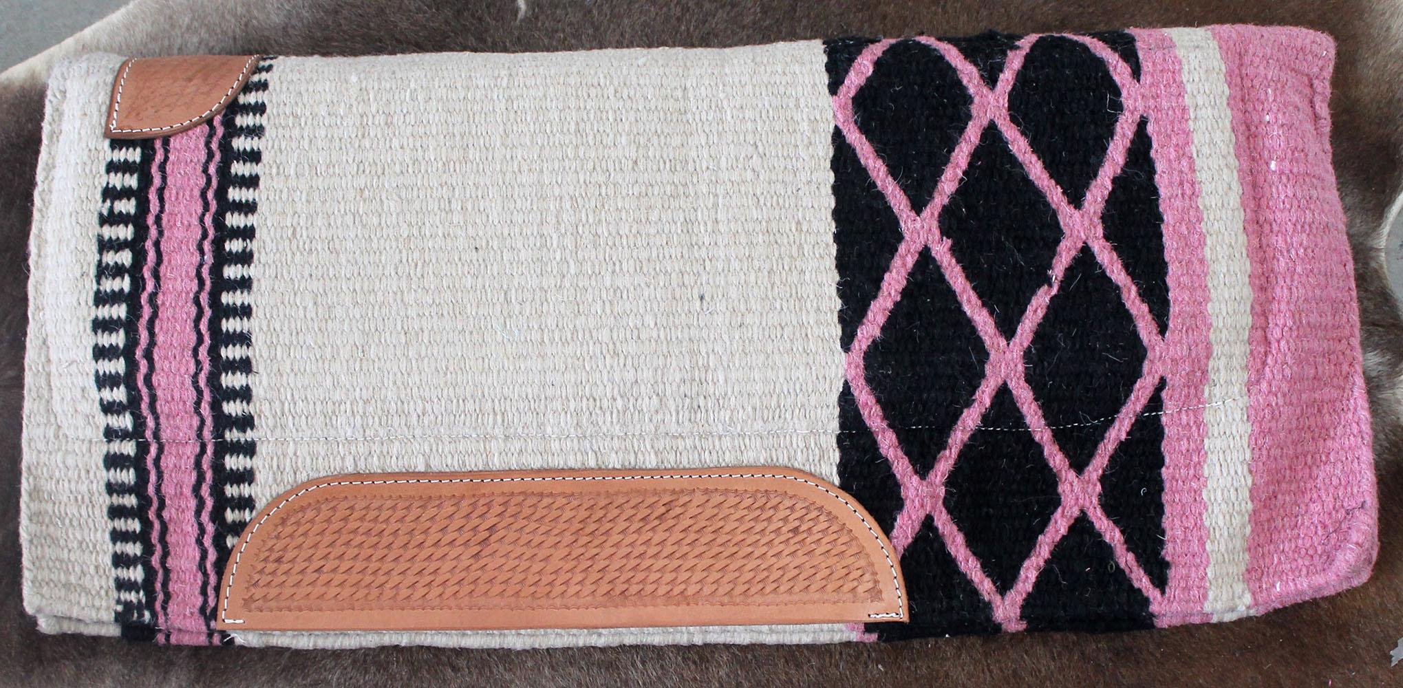 Mostrar occidental lana cojín Rodeo manta de caballo Trail Tachuela 3892