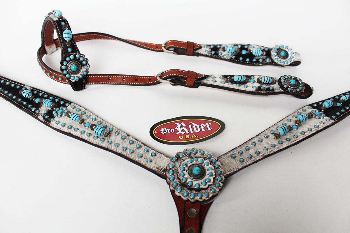 Show Tack Bridle Western Leather Headstall Breastcollar ...