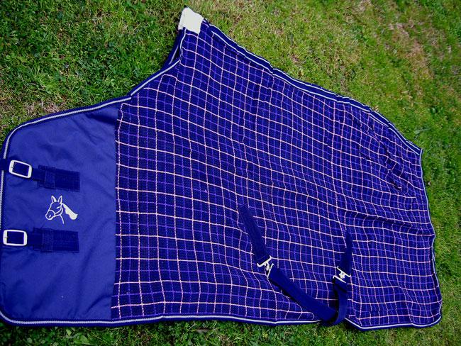 72  Horse Cotton Sheet Blanket Rug Summer Spring Navy Pink 5310