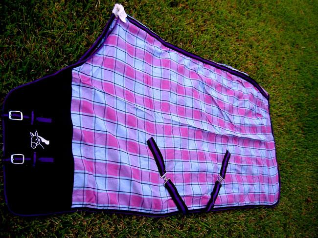 Horse Cotton Sheet Blanket Rug Summer Spring Turquoise Purple 5316