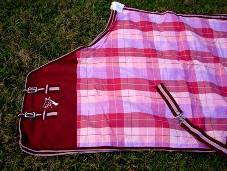 84  Horse Cotton Sheet Blanket Rug Summer Spring Pink Burgundy 5328